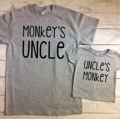 Uncle and Nephew Shirts Uncle and Niece Shirts Monkey Shirts New Uncle Shirt Uncle Gift Brother in Law Gift Matching Shirts - Bestfriend Shirts - Ideas of Bestfriend Shirts - Baby Shirts, Funny Shirts, Onesies, Quote Shirts, Vinyl Shirts, Brother In Law Gift, Uncle Gifts, Niece Gifts, Friend Gifts