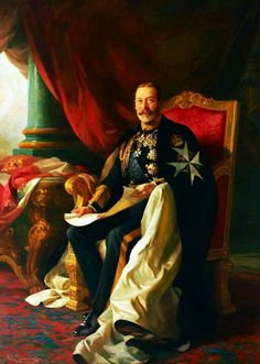 King George V. A fantastic painting, very much in the tradition of the great portraitists of the 17th & 18th Centuries.