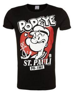 LOGOSHIRT - POPEYE - ST. PAULI - T-shirt print - black