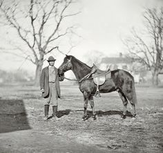 """"""" You can't say Ulysses S. Grant lacked a sense of humor. American Civil War, American History, Shorpy Historical Photos, War Image, Vintage Horse, Civil War Photos, Us History, Military History, Vintage Photos"""