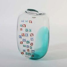 TOP bedeutende Vase Alfredo Barbini Murano Glas AD AGNELLI grün 1965 signiert in Antiquitäten & Kunst, Glas & Kristall, Murano-Glas | eBay!
