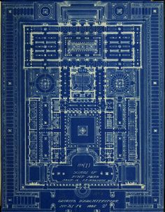 "americangentility: ""Design for a School of Fine Arts, 1885 "" Architecture Tumblr, Architecture Mapping, Cookie Cutter House, Textile Texture, Beautiful Patterns, My Favorite Color, Shades Of Blue, Drawing Sketches, City Photo"