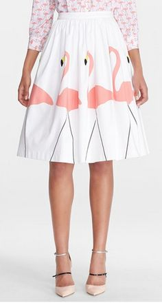 Love this sweet flamingo skirt! http://rstyle.me/n/jze5hnyg6