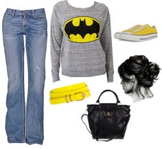 """batman movie outfit"" by julianaruud on Polyvore - not that I am a fan or anything"