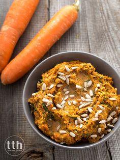 Aromatyczna pasta z pieczonej marchewki i słonecznika (wegańskie, bezglutenowe)