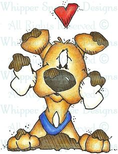 Muddy Pup - Dogs - Animals - Rubber Stamps - Shop