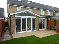 If you do want a small gable but wont work for shorter ground floor House Extension Plans, House Extension Design, Extension Designs, Roof Extension, House Design, Extension Ideas, Glass Extension, Conservatory Dining Room, Conservatory Roof