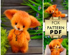 Toys amigurumi and descriptions to them. от BearsToysAmigurumi Crochet Bear Patterns, Crochet Fox, Crochet Hooks, Knitting Patterns, Little Fox, Fox Pattern, Baby Mouse, Love My Kids, Stuffed Toys Patterns