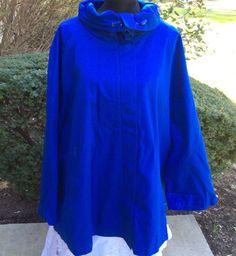 NEW Woman Within Women Plus Size Swing Coat Jacket Royal Blue 2X #WomanWithin #Swing