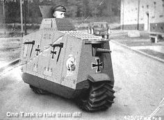 At some point in history, people thought these vehicles of war were a good idea. It's amazing how far military technology has come. I'm not even sure what some of these are suppose to do. Tank Armor, Motorcycle Tank, Military Pictures, World Of Tanks, Ww2 Tanks, Military Equipment, Armored Vehicles, War Machine, World War I