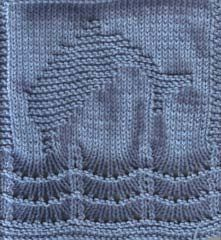 Free Knitting Pattern - Dishcloths & Washcloths : Dolly the Dolphin Cloth