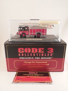 Code 3 Preserve the Honor Chicago Fire Department 1/64 Die Cast Snorkel Squad 2A #Code3Collectibles