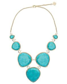 Rebecca Statement Necklace in Turquoise - Kendra Scott Jewelry.