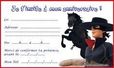 des invitations Zorro