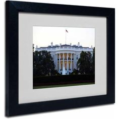 Trademark Fine Art White House Canvas Art by CATeyes, Black Frame, Size: 11 x 14, Multicolor