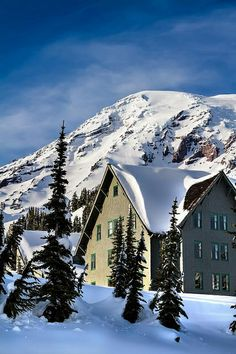 Mt. Rainier and the Lodge