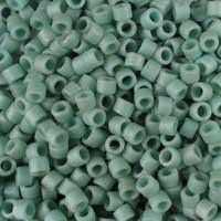 Miyuki 11/0 (1.6mm) Delica Matte Opaque Sea Foam Luster glass cylinder beads, colour number DB 374. UK seller.