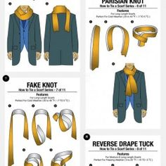 11 Simple Ways to Tie a Scarf | Visual.ly