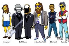 French Electro music artists simpsonized