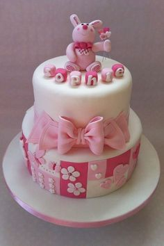 My god daughters cake:) — Christening / Baptism