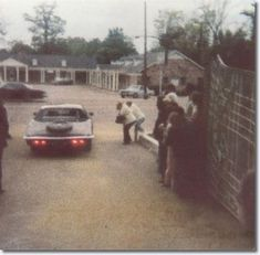 The last known photograph of Elvis was taken as he was driving though the Graceland Gates in his 1973 Stutz Blackhawk III shortly after midnight on August 16, 1977, from a late-night visit to the dentist. -
