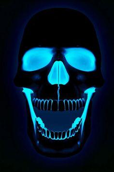 Calavera Azul #Skull