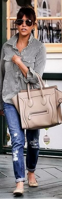 Just a great go about the day look! Casual chic