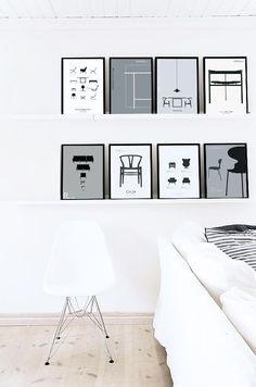 Annikowo - scrapblog: Pinspiracje - czarno-białe plakaty jako dekoracja ścian [Pinspiration - black and white posters on the walls]