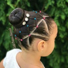 Today I bring you this beautiful Hairstyle with elastics inspired by 💖 swipe for more views ➡�🙂… Childrens Hairstyles, Lil Girl Hairstyles, Princess Hairstyles, Braided Hairstyles, Toddler Hairstyles, Short Hairstyles, Wedding Hairstyles, Curly Hair Styles, Natural Hair Styles