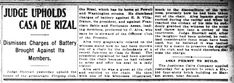 """Judge Upholds Casa de Rizal"" in San Francisco Chronicle, 1908 #kasaysayan"