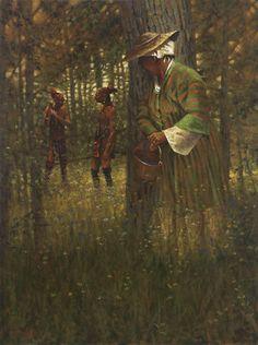 Doug Hall's Huckleberry Forest Studio - A Cautious Peek, Sold (http://www.doughallart.com/a-cautious-peek/)