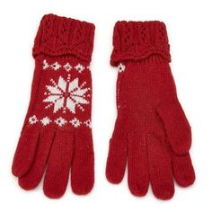 A Gem Or Two Red snowflake gloves - A Gem Or Two