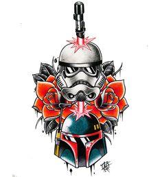 Resultado de imagen de traditional star wars tattoo designs