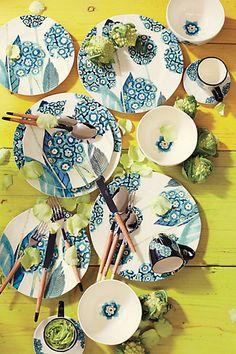 Garden Buzz Dinner Plate - anthropologie.com #Anthropologie #PinToWin
