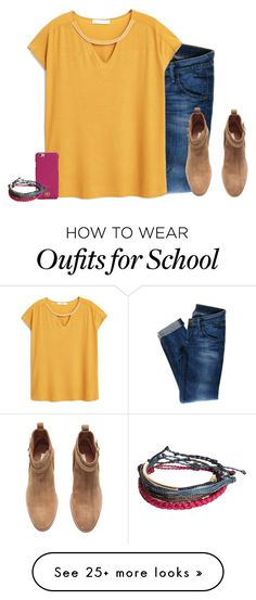 """High School Open House"" by mlainezrubi on Polyvore featuring Hudson Jeans, MANGO, H&M, Tory Burch, Pura Vida, women's clothing, women, female, woman and misses"