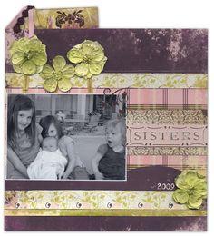 Sisters - Scrapbook.com - #scrapbooking #layouts