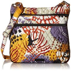 This is one of the best ladies fashion handbpags  as it is trendy, @stylish and functional.   Perfect for #Fall this #purse is super cool and would elevate any  outfit.  Easily one of the top #handbags  for women this Autumn.       Vera Bradley Triple Zip Hipster, Painted Feathers