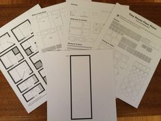 Print and Cut Samples to make your own tiny house floor plan
