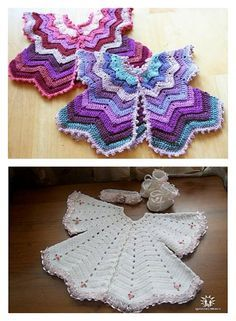 Star Shaped Baby Chevron Cardigan Free Crochet Pattern