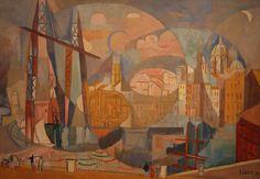 """""""Le Port de Marseille"""", 1936 by André Lhote (French 1885-1962)"""