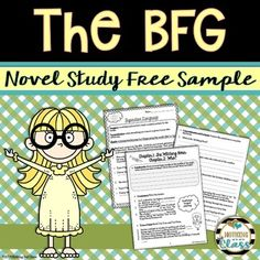 This 8 page sample of my best-selling novel study for The BFG, by Roald Dahl, contains student comprehension work for Chapters 1-4, as well as a Figurative Language activity.This download includes:1) Student Work for Chapters 1-4; every two chapters containing:-Quickwrite-Warms up student brains before reading.-Vocabulary-Introduces new words.-Sequencing, T/F, or Multiple Choice activity.-Comprehension and Analysis questions.-Beyond-Challenging, fun activities.2) Figurative Language…