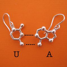 Made With Molecules — RNA base pair earrings