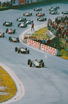 Jimmy leads at Spa-Francorchamps, Eau Rouge and wins.
