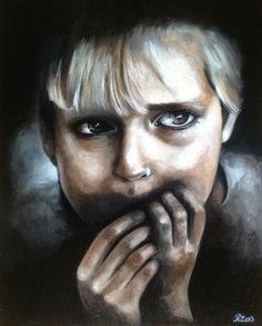 """Oil painting by Rebecca Tecla  """"Fear"""" / Sold"""