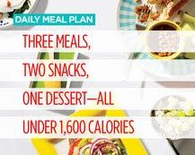 Meal plan. Have to make a few adjustments though