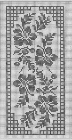 Crochet and arts: Filet crochet wipes Crochet Bedspread Pattern, Crochet Table Runner Pattern, Crochet Tablecloth, Tapestry Crochet, Cross Stitch Bird, Cross Stitch Flowers, Cross Stitch Designs, Cross Stitch Patterns, Filet Crochet Charts
