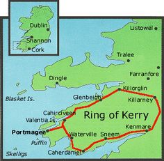 Ireland: Ring of Kerry along the Iveragh Peninsula. 110 miles. Drive it clockwise. Tour buses drive it counter clockwise, so you'll risk getting stuck behind them. With stopping and exploring, people say it takes about 6 hours.