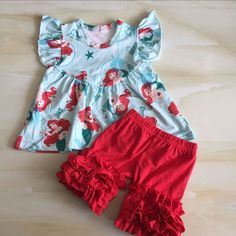 f5660a5b917 WY-763 colorful dresses for girls baby girl red ruffle shorts outfit  stitching patterns for