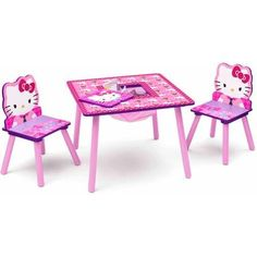 Hello Kitty Table and Chair Set with Storage -- See this great product.Note:It is affiliate link to Amazon.