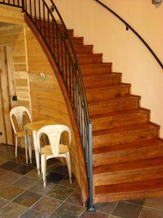 Dramatic grain bin stairs